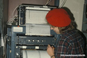 3_Christine Boyko marking helicorder records about May_1_1980 copy
