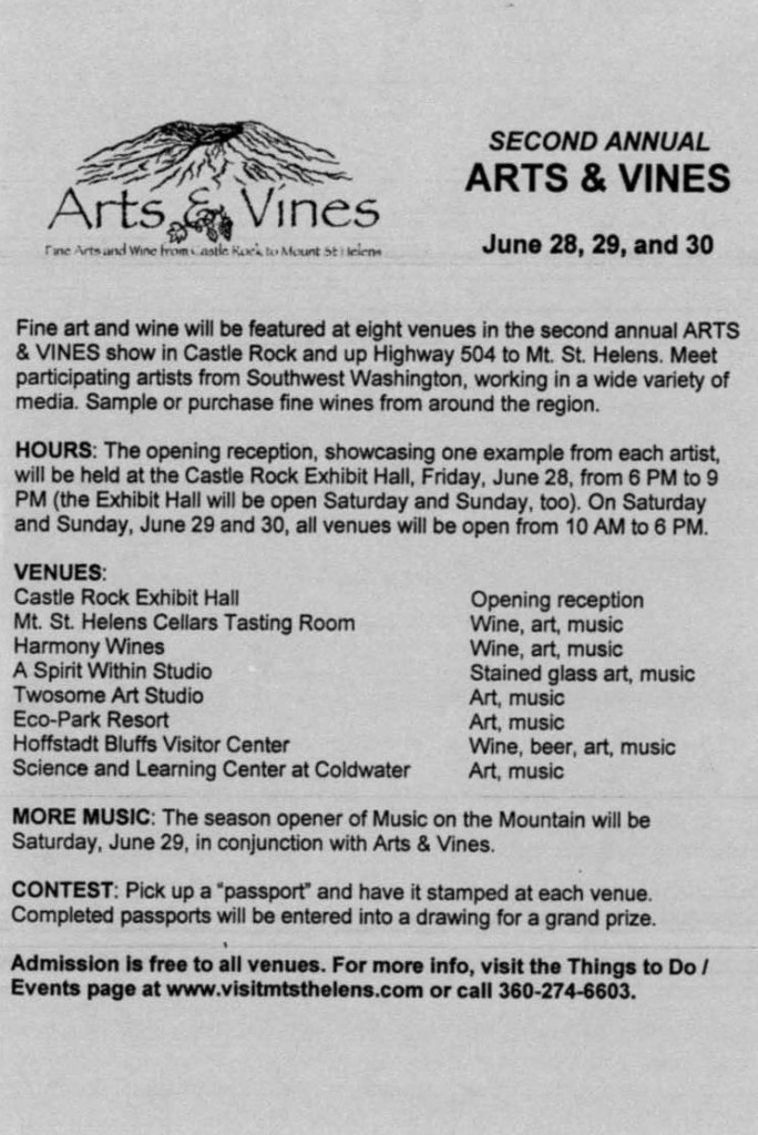 Arts and Vines Flyer