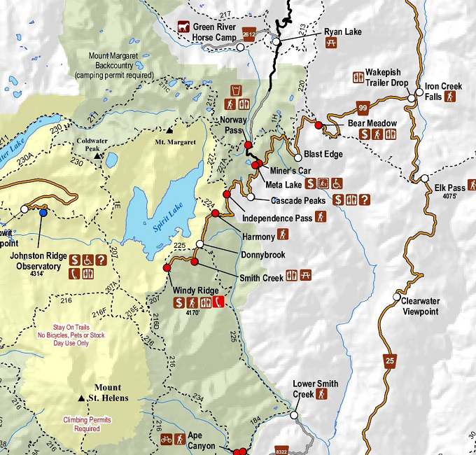 Visit East Side Mount St Helens Science And Learning Center - Mount saint helens on us map