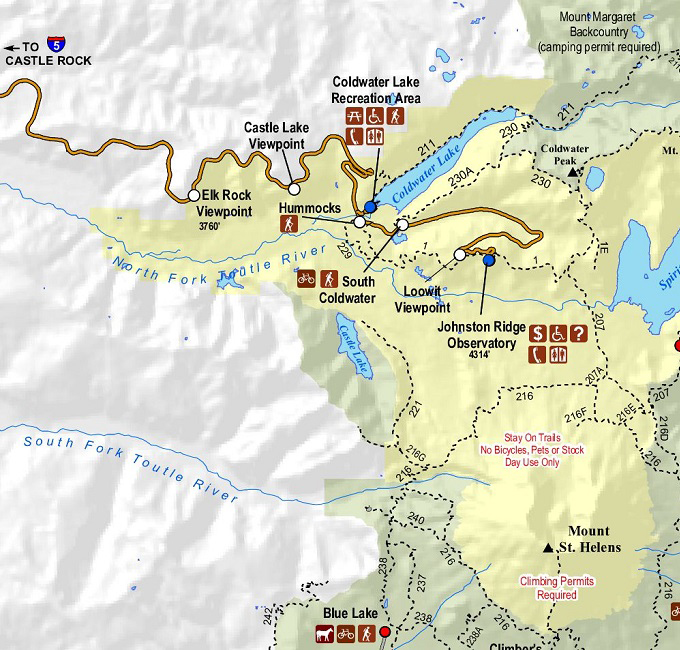Activities Mount St Helens Science And Learning Center - Mount saint helens on us map