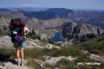Explore amazing crater views, blast shattered ridges and sparkling mountain lakes.